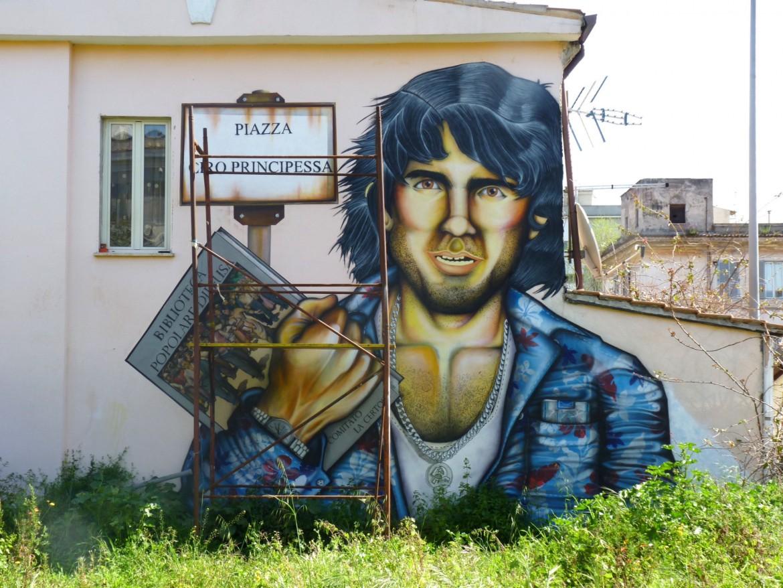 Un murales dedicato a Ciro Principessa
