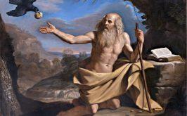 Il Guercino San Paolo Eremita e il corvo Bologna Pinacoteca Nazionale