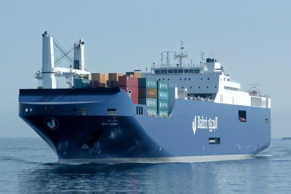 La Bahri Yanbu, altra nave della compagnia saudita Bahri con il suo carico di armi