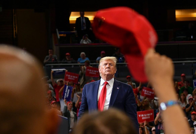 Donald Trump durante il comizio di Orlando, il 18 giugno