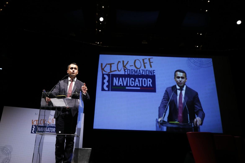 Il vicepremier ministro del lavoro e sviluppo Luigi Di Maio (M5S) all'auditorium di Roma