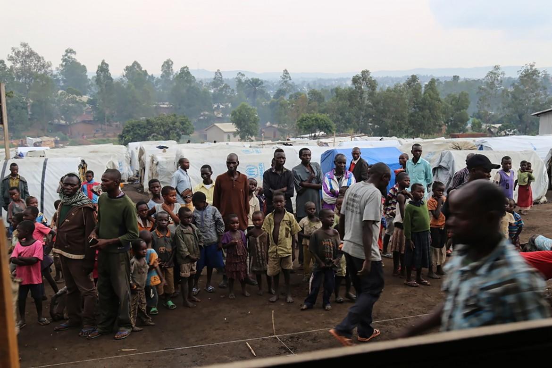 Nel campo profughi sorto alle porte di Bunia, nella regione dei Grandi Laghi
