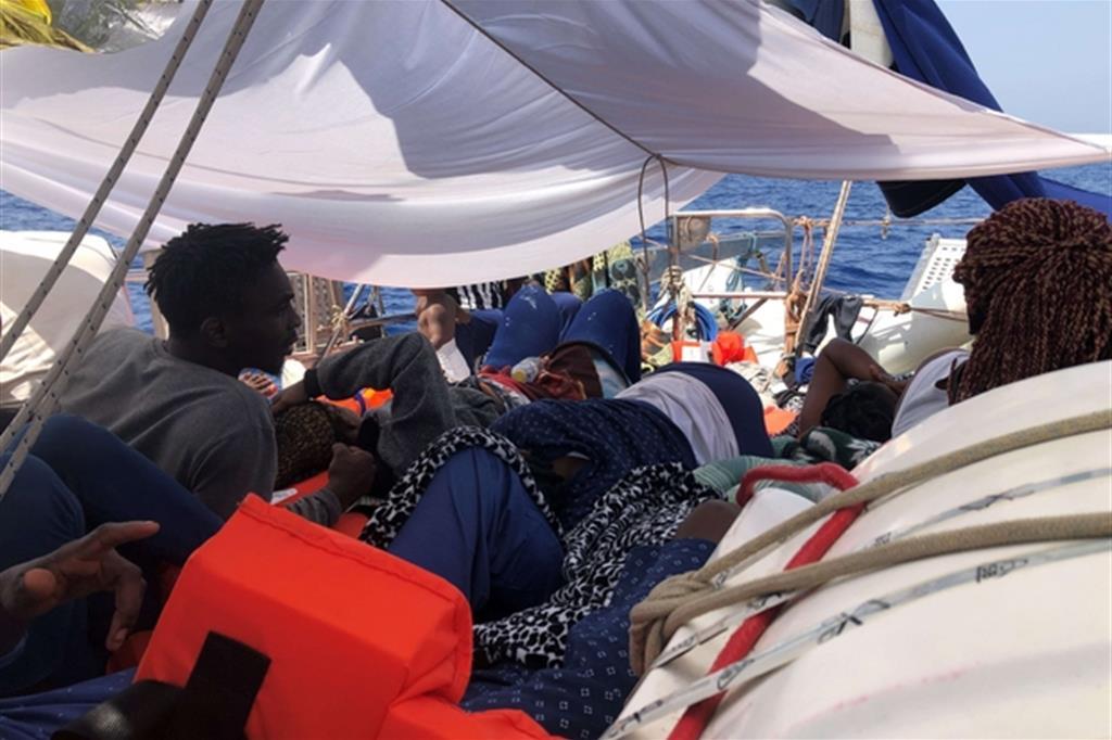 A bordo di Alex Mediterranea