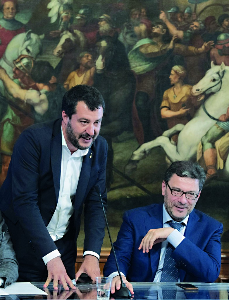 Matteo Salvini e Giancarlo Giorgetti