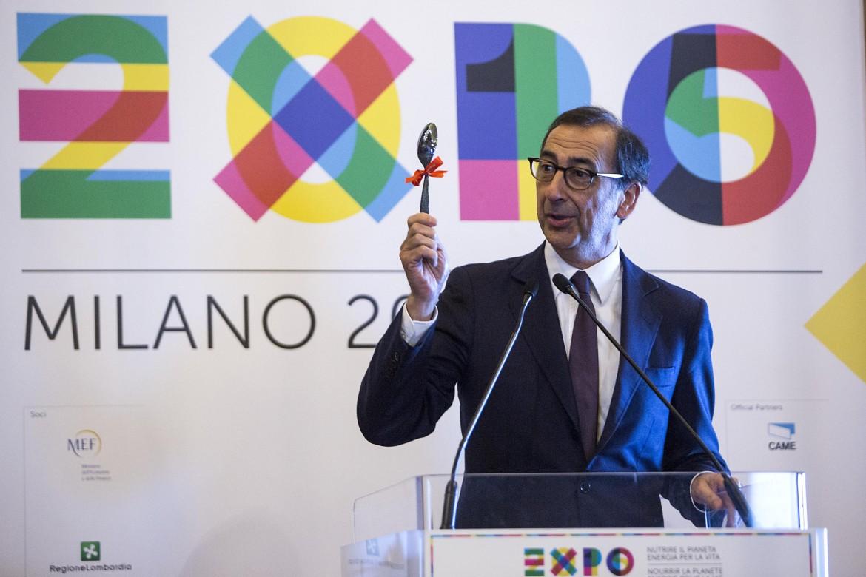 Il sindaco di Milano Beppe Sala, al tempo commissario per Expo 2015