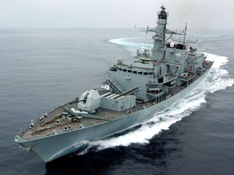 La fregata britannica Montrose
