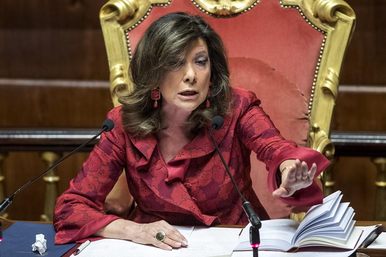 La presidente del senato Maria Elisabetta Casellati