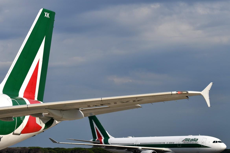 Aerei Alitalia a terra