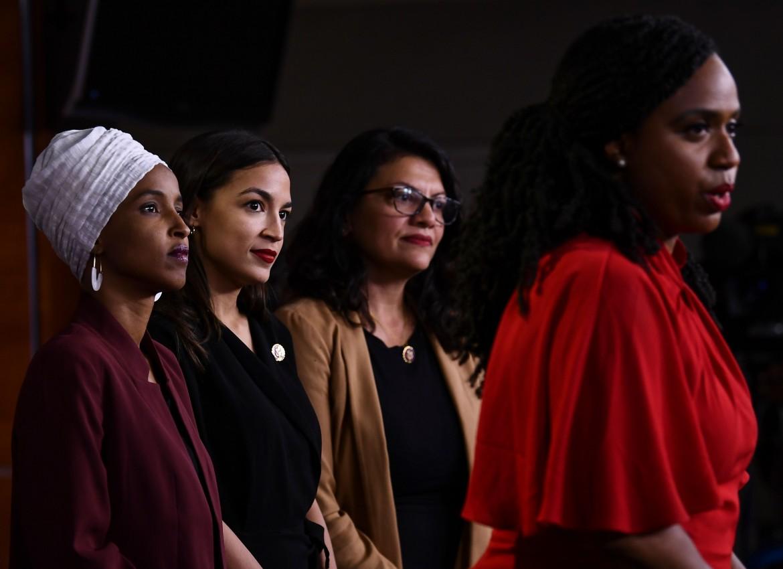 Le quattro deputate democratiche, il gruppo «Squad»: Omar, Ocasio-Cortez, Tlaib e Pressley