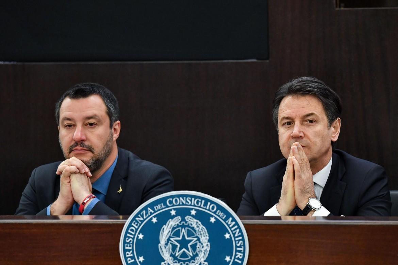 Matteo Salvini e Giuseppe conty