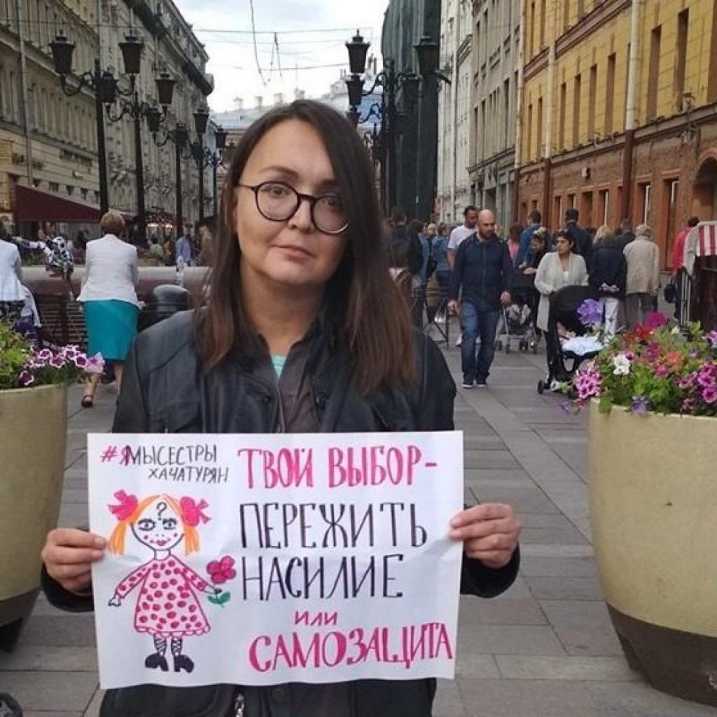 L'attivista russa Elena Grigoreva, uccisa ieri a San Pietroburgo