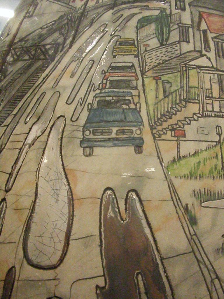 Un'opera dell'artista britannica Grayson Perry ispirata alla Rust Belt