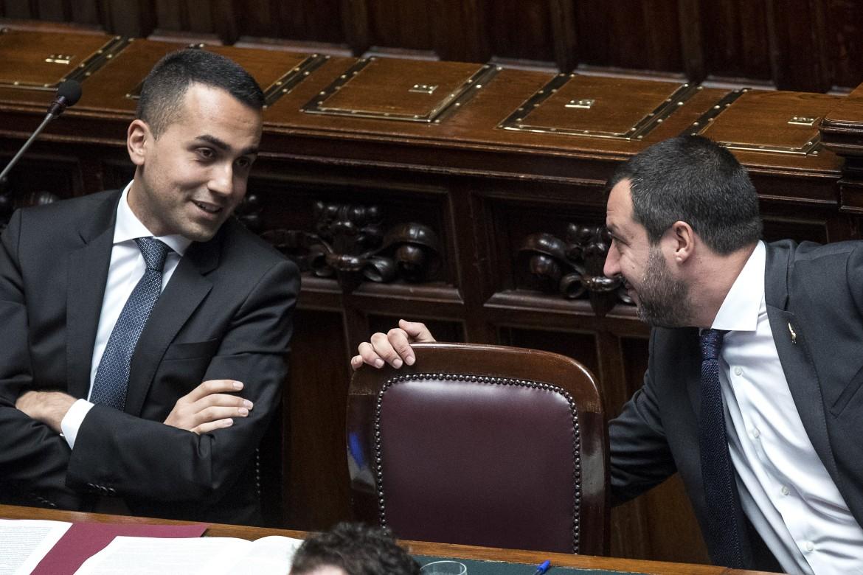 Salvini e Di Maio in aula