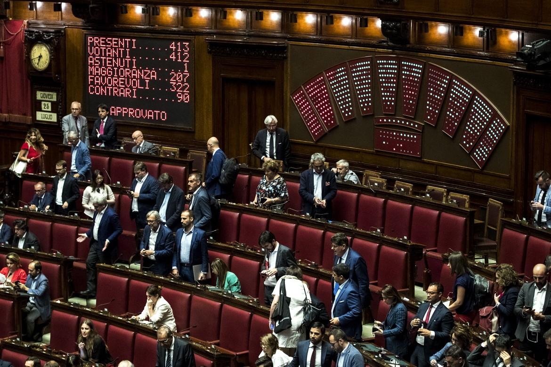 La Camera durante il voto sul decreto sicurezza bis