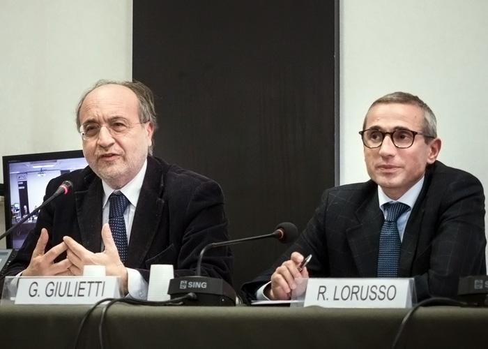 Da sinistra, Beppe Giulietti e Raffaele Lorusso