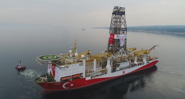 La nave per trivellazioni turca Yavuz inviata da Ankara a largo di Cipro
