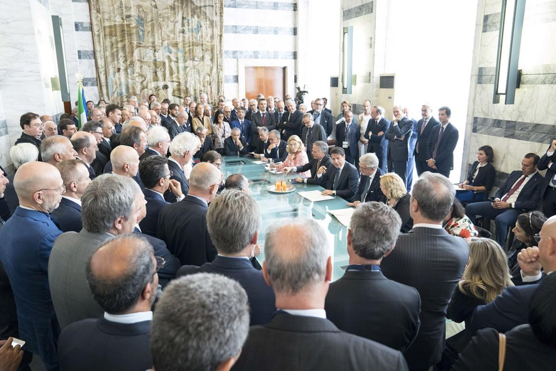 Il Presidente del Consiglio, Giuseppe Conte, interviene alla XIII Conferenza degli Ambasciatori e delle Ambasciatrici d'Italia nel mondo che si è tenuta alla Farnesina