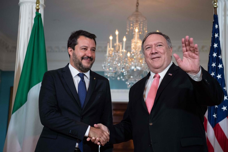 17 giugno 2019, Mike Pompeo riceve Matteo Salvini a Washington