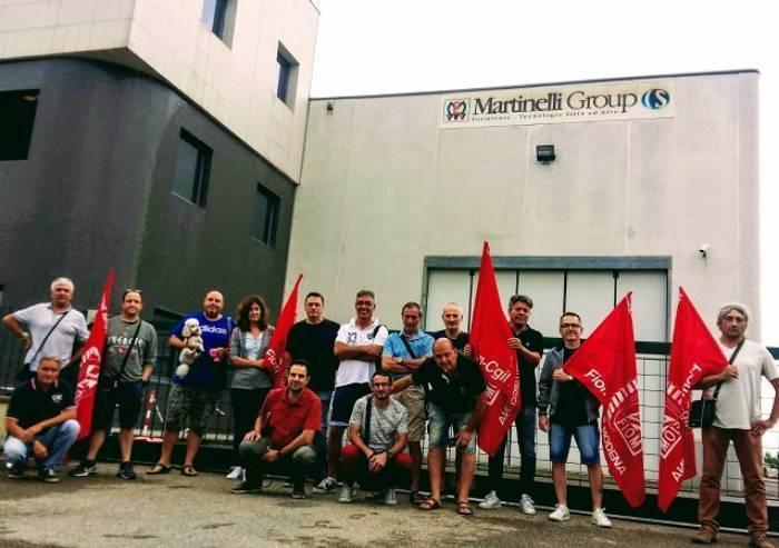 I lavoratori della Martinelli di Sassuolo