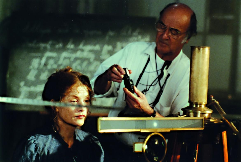 Pierre Lhomme insieme a Isabelle Huppert sul set di «Les palmes de monsieur Schuz» di Claude Pinoteau