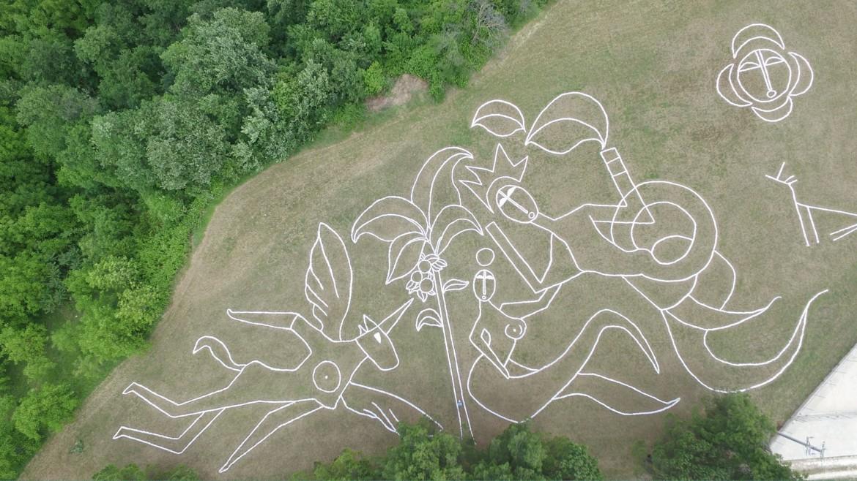 Installazione di Yona Friedman per la Fondazione No Man's Land, in Abruzzo