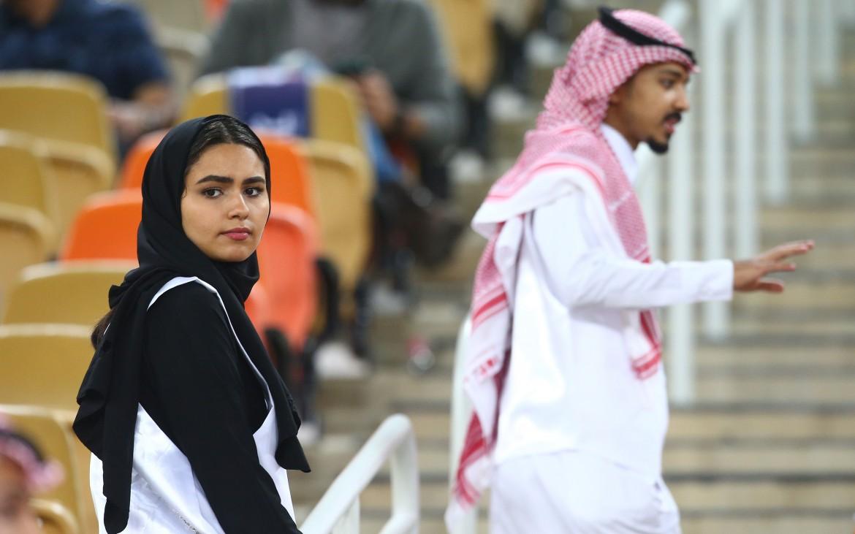 Una saudita allo stadio