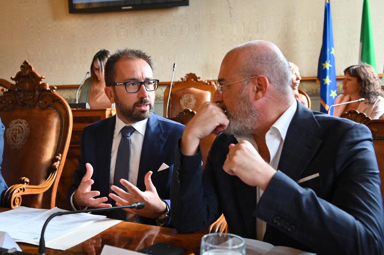 Ministro della Giustizia, Bonafede e Bonaccini, presidente dell'Emilia Romagna