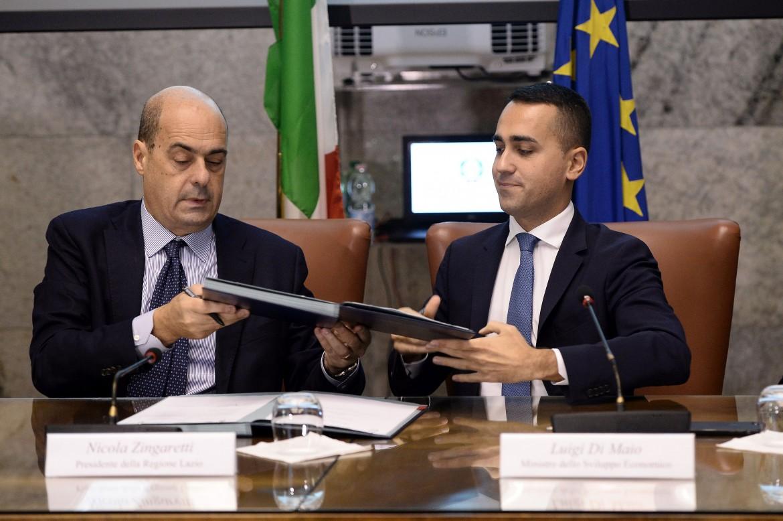 Zingaretti e Di Maio in un incontro del 2018