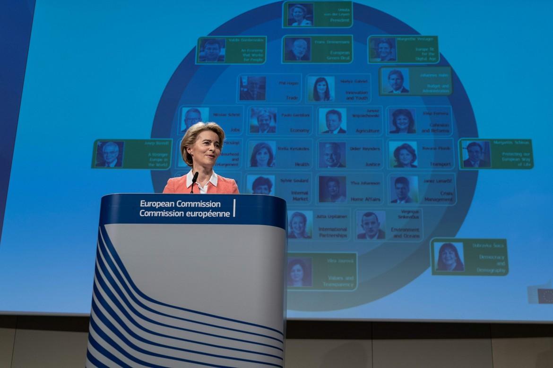 La Presidente della Commissione Ue Ursula Von Der Leyen