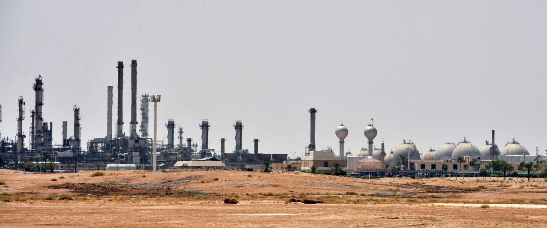 L'impianto di estrazione del greggio della compagnia saudita Aramco ad al-Khurj