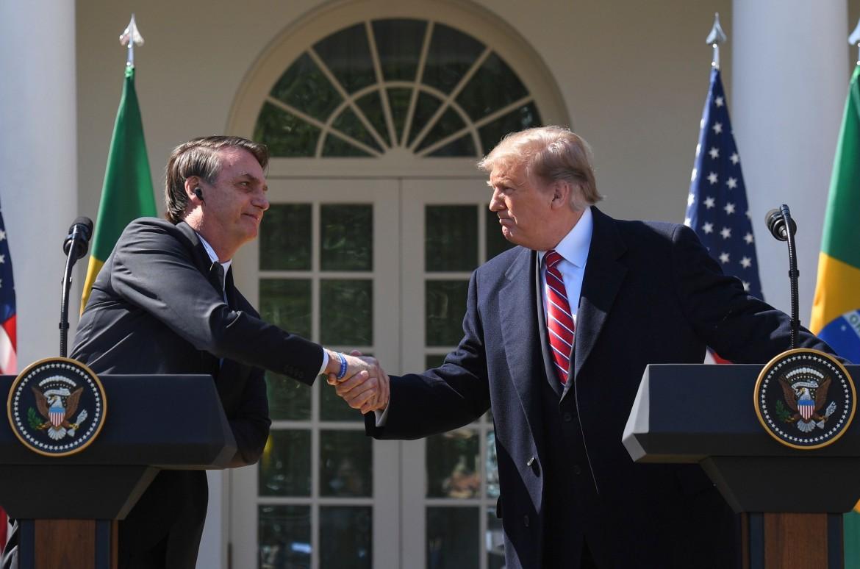 Bolsonaro a Washington con Trump