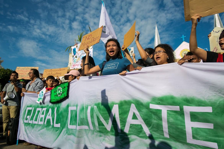 Il Global climate strike di Yangon, in Birmania