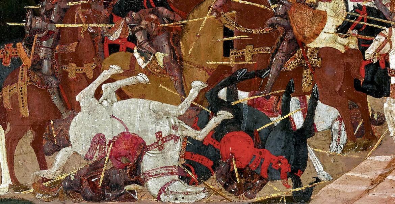 Apollonio di Giovanni (1414-'65), La battaglia di Farsalo, part.