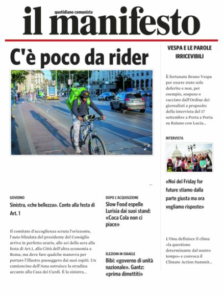 Edizione del 20092019