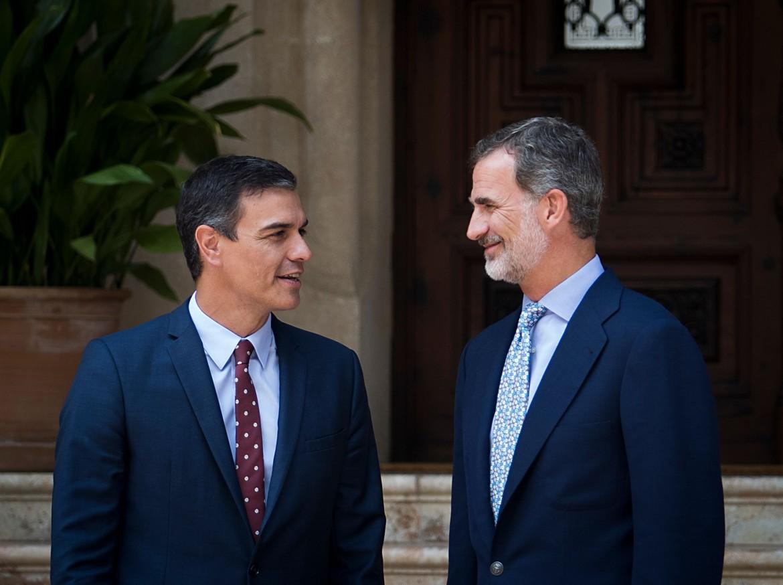 Pedro Sánchez e Felipe VI