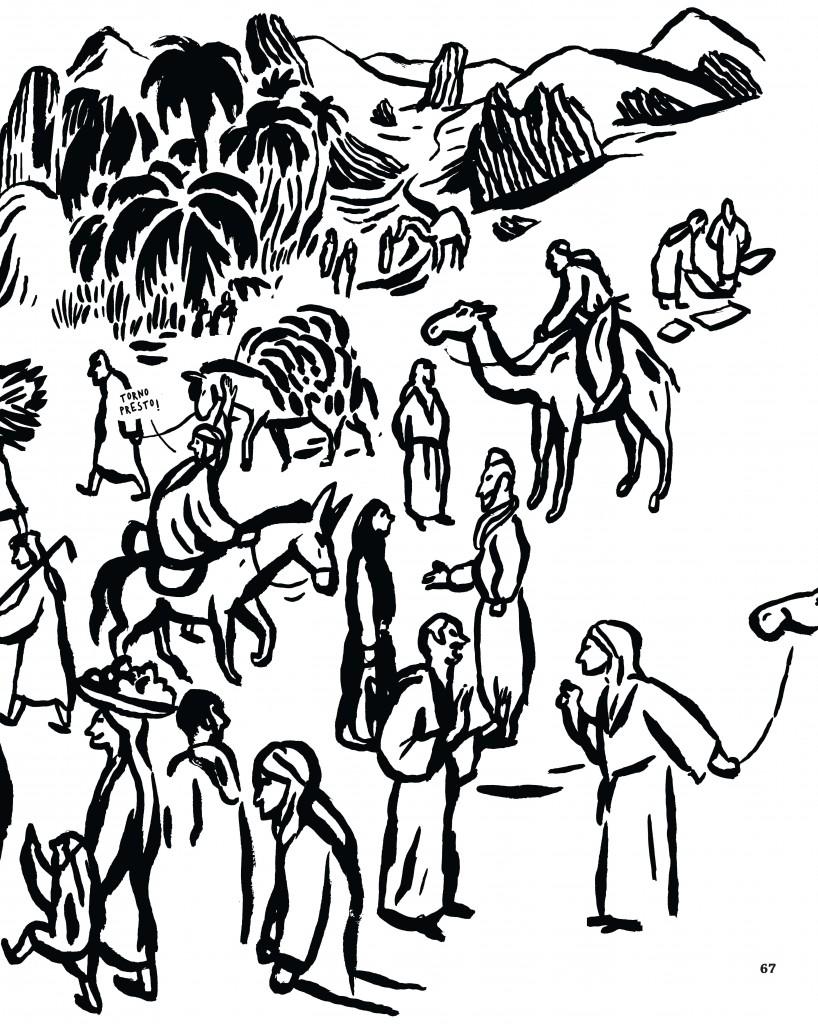 Tavola illustrata di Bernardo P. Carvalho per l'«Atlante dei grandi esploratori»