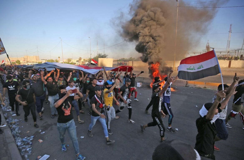 La protesta di inizio ottobre in Iraq