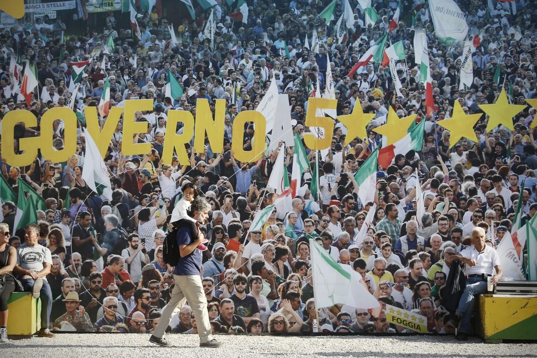 La manifestazione Italia 5 stelle al Circo Massimo