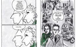 Una tavola di Ken Krimstein da Hannah Arendt La tirannia della verit che la ritrae con Gnther Anders