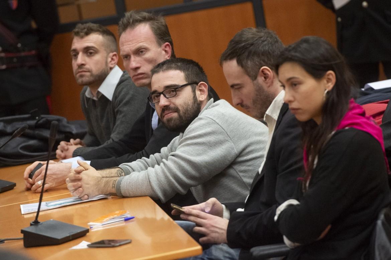 Maria Edgarda Marcucci insieme a Davide Grasso, Paolo Andolina, Fabrizio Maniero e Jacopo Bindi