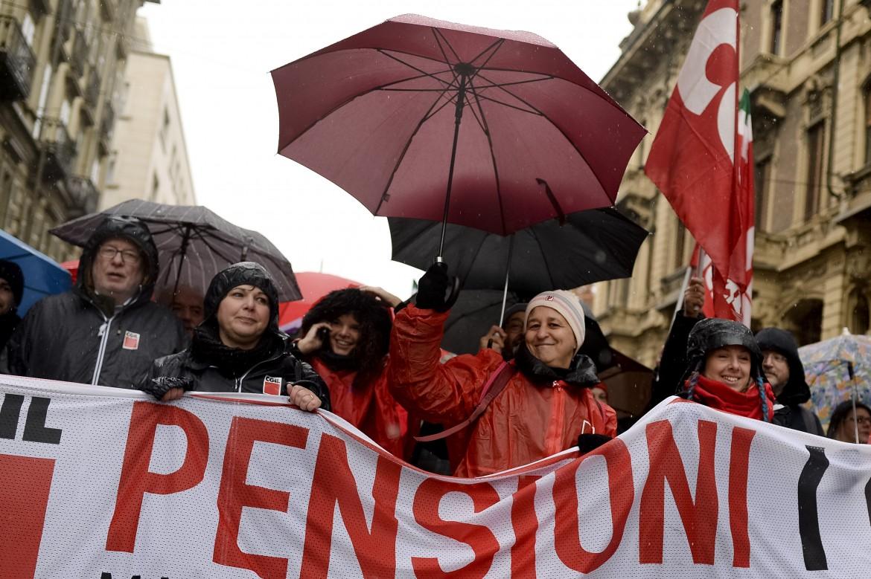 Una manifestazione dei sindacati contro la riforma Fornero