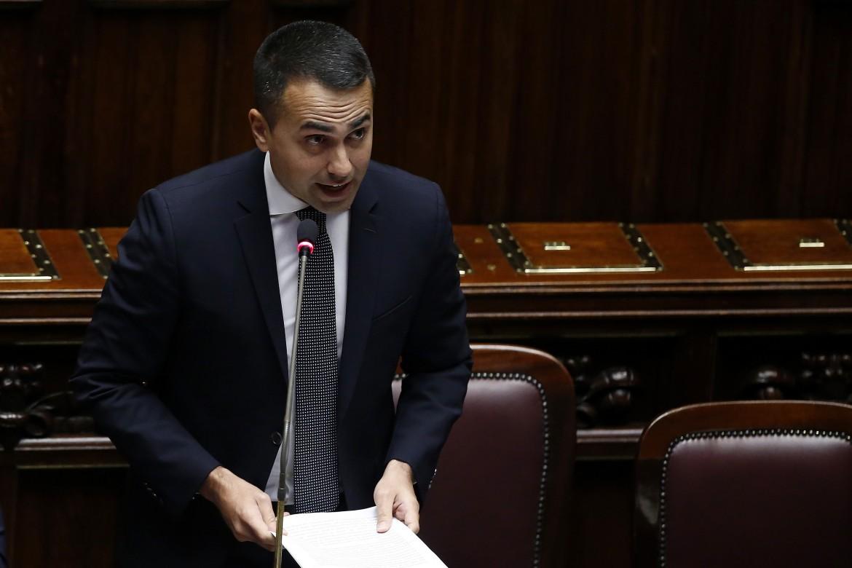 Luigi Di Maio ieri alla camera dei deputati