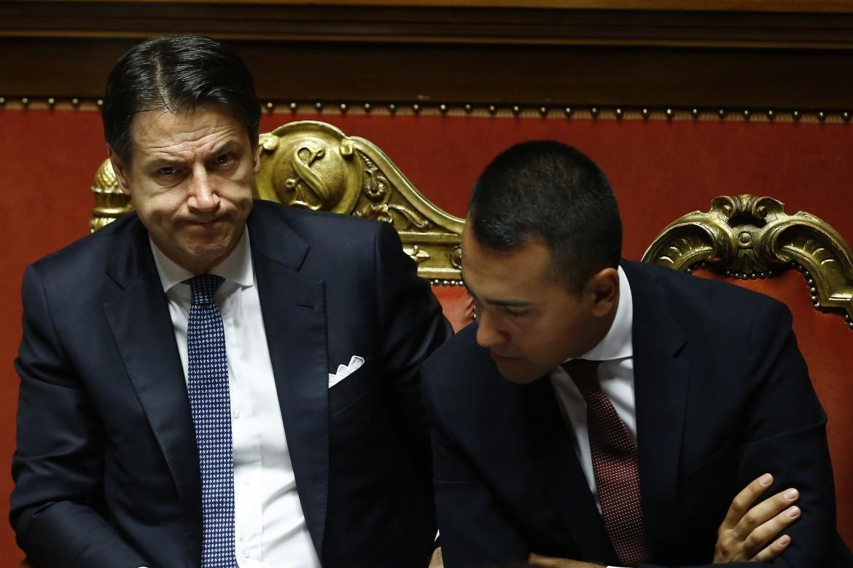 Il presidente del consiglio Giuseppe Conte e il capo politico M5s Luigi Di Maio