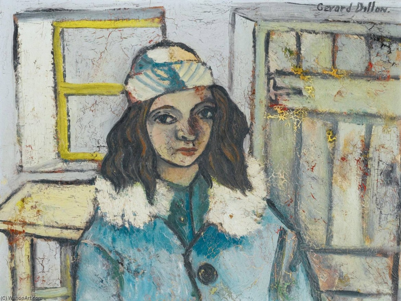 Gerard Dillon, Portrait - Girl in a Bonnet