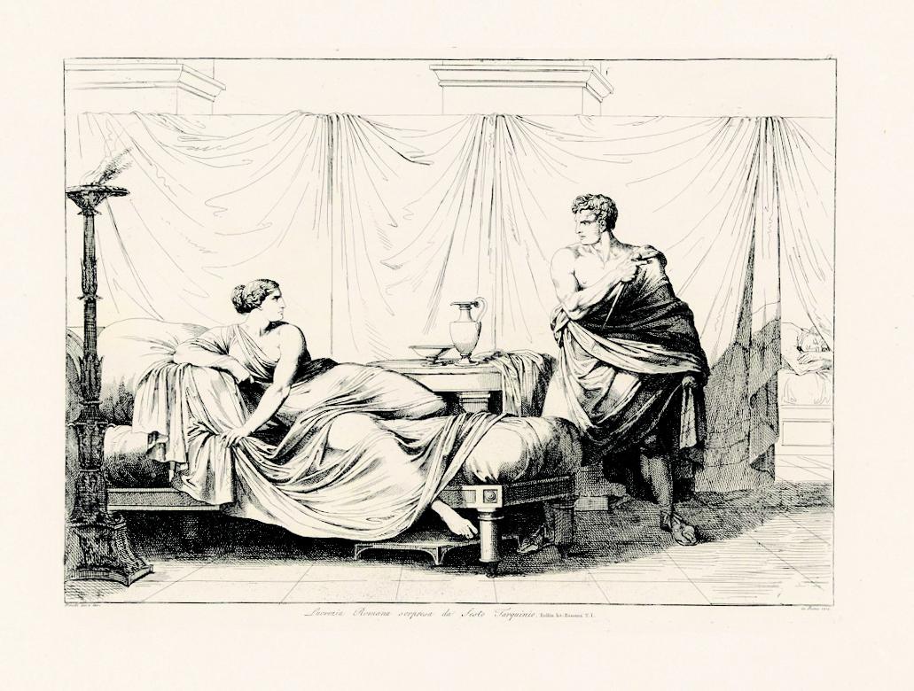 Bartolomeo Pinelli, Lucrezia Romana sorpresa da Sesto Tarquinio, 1817