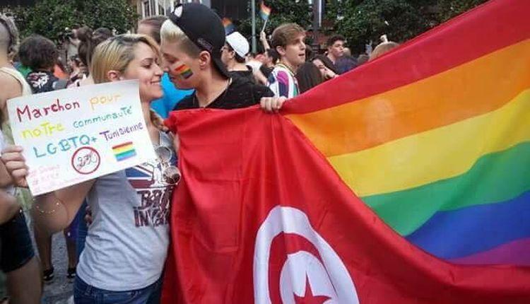Una manifestazione per i diritti Lgbt in Tunisia
