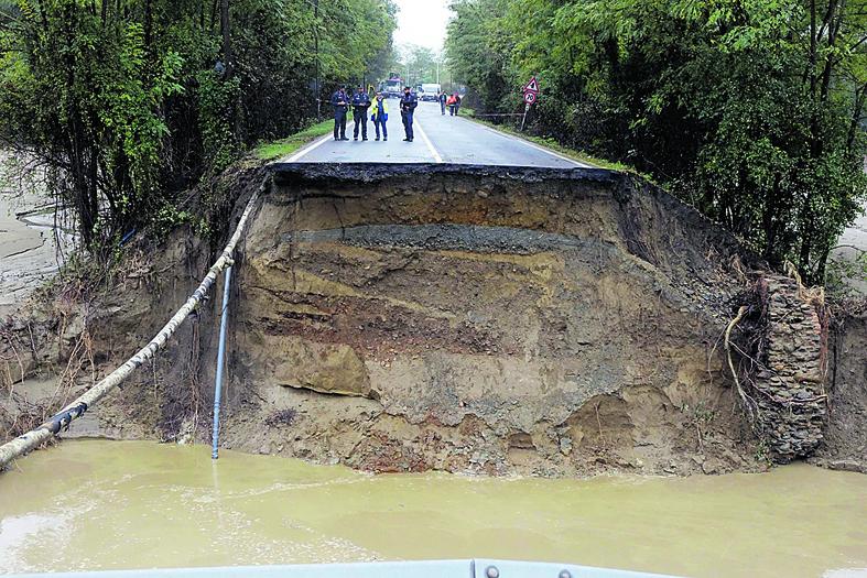 Danni dell'alluvione nell'Alessandrino