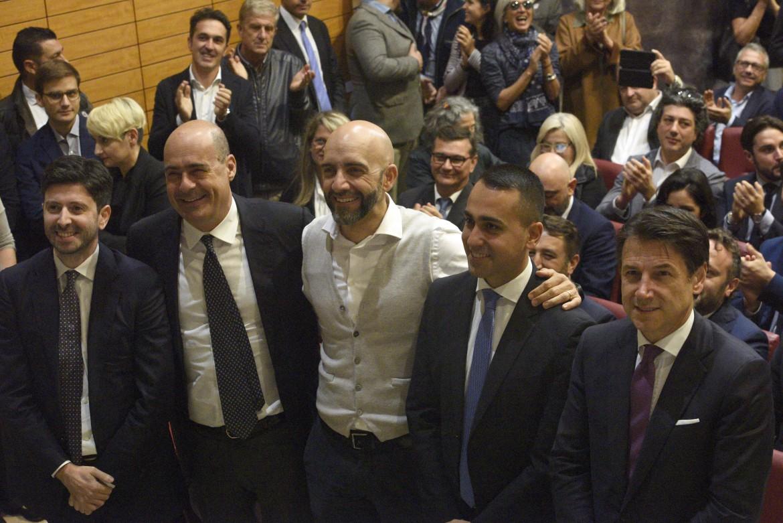 Speranza, Zingaretti, Bianconi, Di Maio e Conte