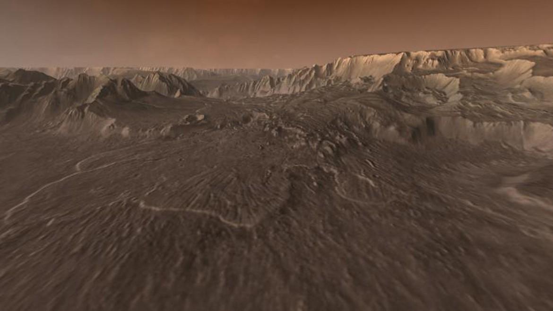 L'effetto di una frana sul Pianeta Rosso. Un'immagine tratta dal Mars Exploration Program della Nasa