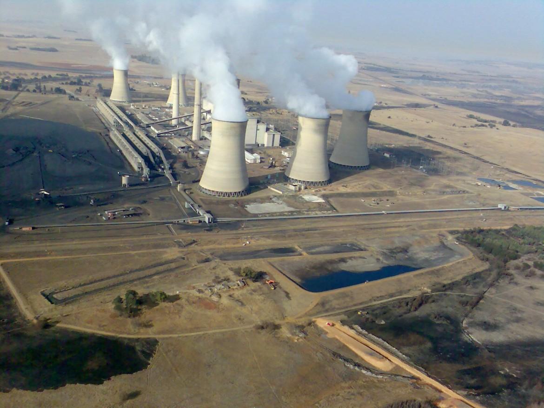 La centrale a carbone Eskom di Middelburg
